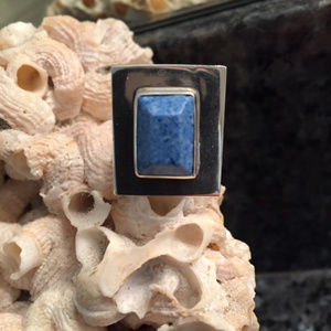 Jewelry - Sterling Silver Contemporary Lapis Statement Ring